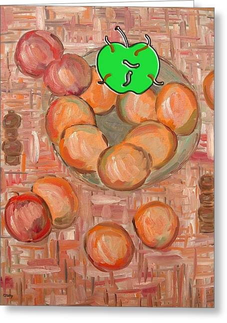 Tablets Greeting Cards - Bad Apple 2 Greeting Card by Patrick J Murphy