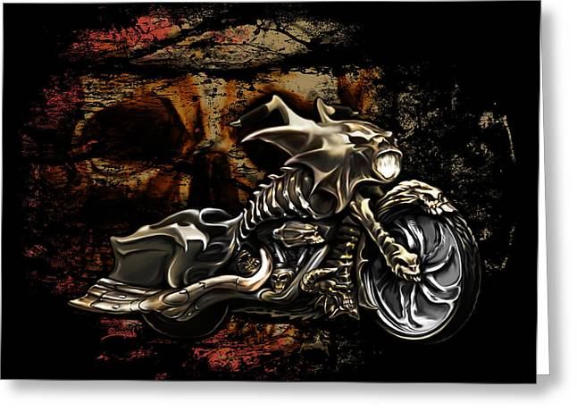 Spano Greeting Cards - Bad Ass Bagger Greeting Card by Michael Spano