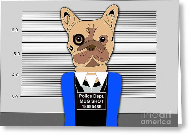 Bulldog Greeting Cards - Bad Bad Dog Greeting Card by Marvin Blaine
