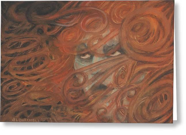 Wife Pastels Greeting Cards - Bad Hair Day Greeting Card by Debra Lynn Birchell