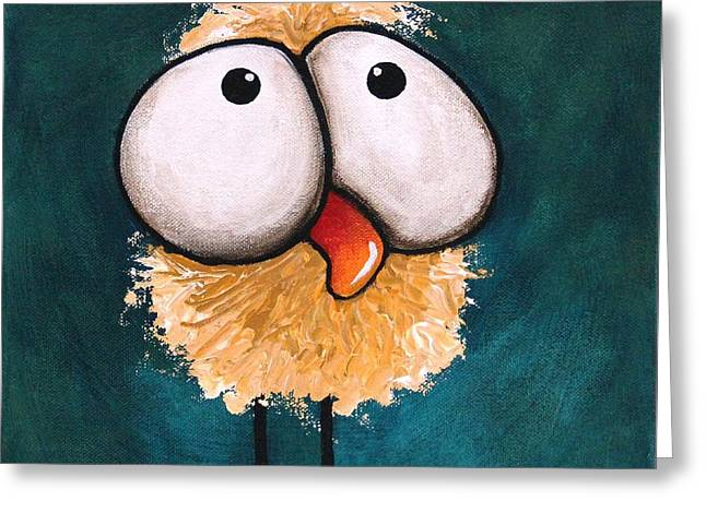 Fluffy Chickens Greeting Cards - Bad hair day Greeting Card by Lucia Stewart