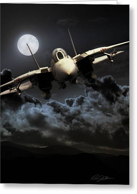 Carrier Greeting Cards - Bad Moon Rising Greeting Card by Peter Chilelli