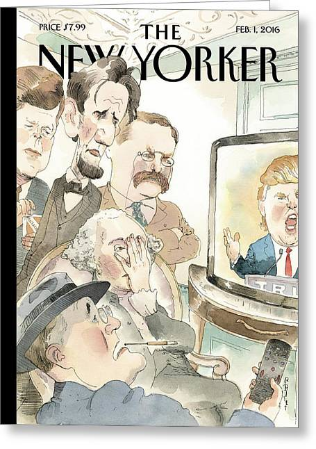 Bad Reception Greeting Card by Barry Blitt