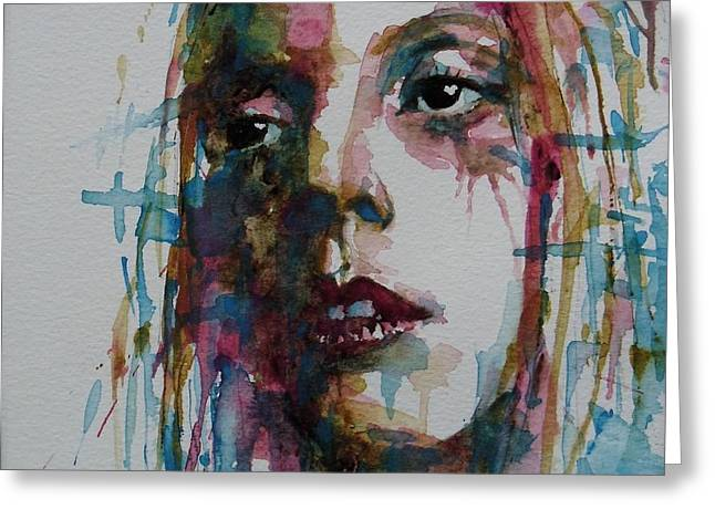 Singer Paintings Greeting Cards - Bad Romance Greeting Card by Paul Lovering