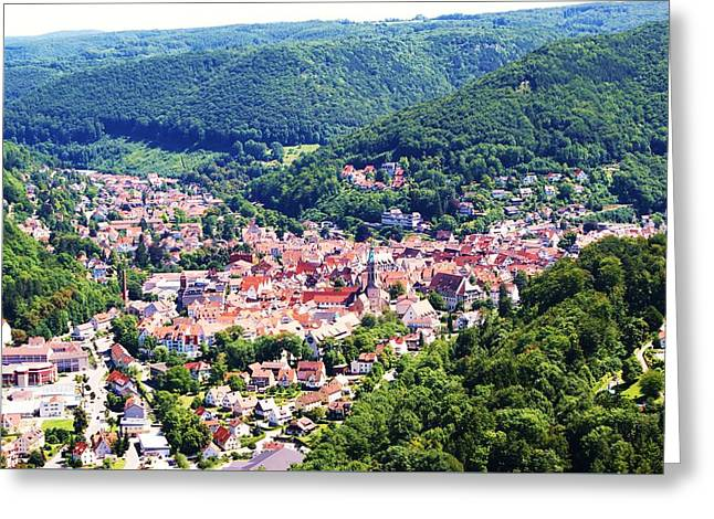 Medival Greeting Cards - Bad Urach Germany Greeting Card by Misuk  Jenkins
