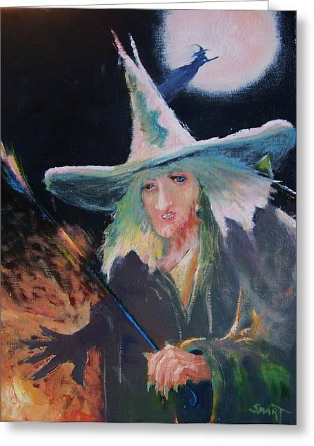 Fairy Painter Greeting Cards - Bad Witch Greeting Card by Dan Smart