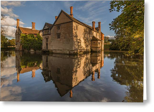 Moat Greeting Cards - Baddesley Clinton Greeting Card by Chris Fletcher