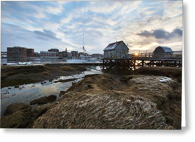 Maine Shore Greeting Cards - Badgers Island Greeting Card by Eric Gendron