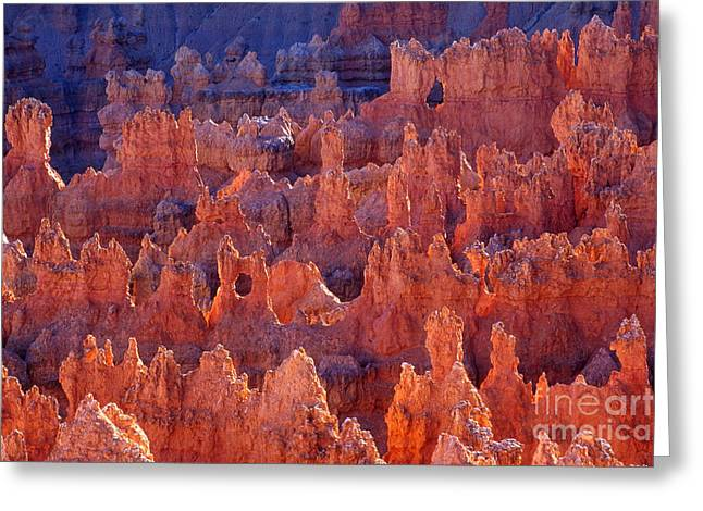 Us Destinations Greeting Cards - Badland Topography Of Bryce Canyon, Utah Greeting Card by Gregory G. Dimijian