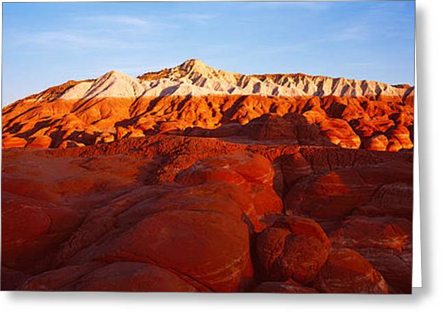 Escalante Greeting Cards - Badlands At Sunset, Escalante, Utah, Usa Greeting Card by Panoramic Images