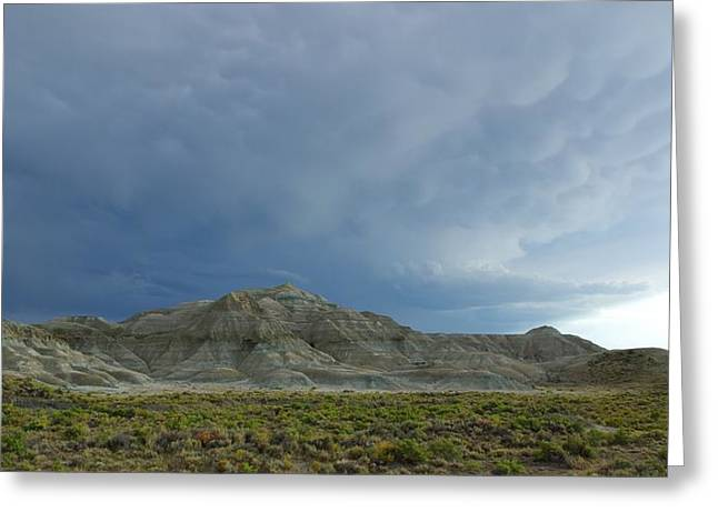 Approaching Storm Greeting Cards - Badlands Greeting Card by David Andersen