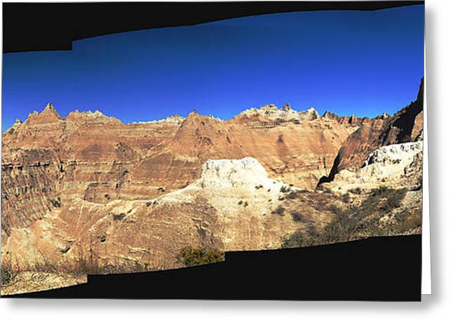 Big Sur Beach Greeting Cards - Badlands Panorama Greeting Card by Bryan Shane