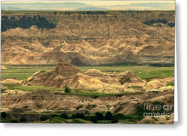As Far As The Eye Can See Greeting Cards - Badlands Vision Greeting Card by Anthony Wilkening