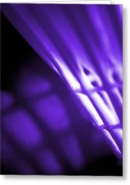 Lounge Digital Art Greeting Cards - Badminton Shuttlecock Abstact - Purple Greeting Card by Natalie Kinnear