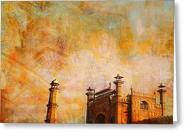 Pakistan Greeting Cards - Badshahi Mosque Greeting Card by Catf