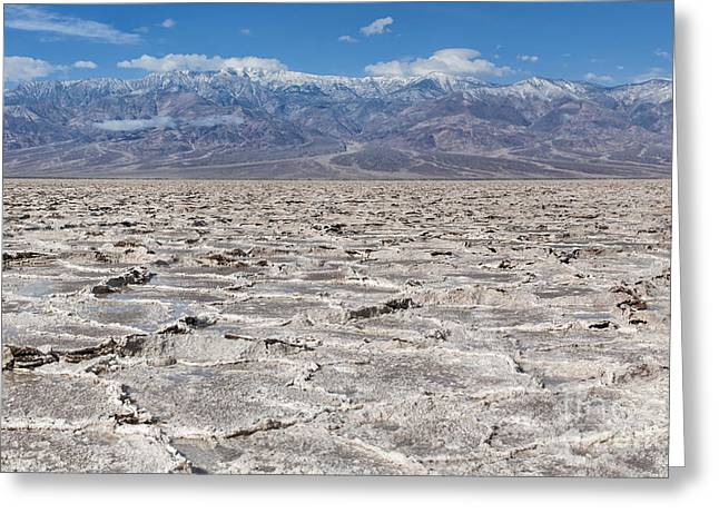 Badwater Basin - Death Valley Greeting Card by Sandra Bronstein