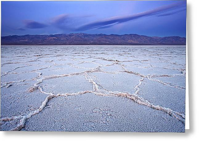 Badwater Dawn Greeting Card by Darren  White