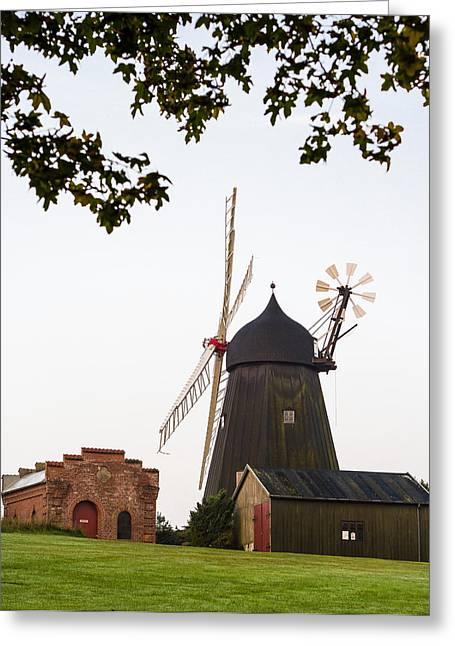 Baelum Windmill Greeting Card by Eric Sloan