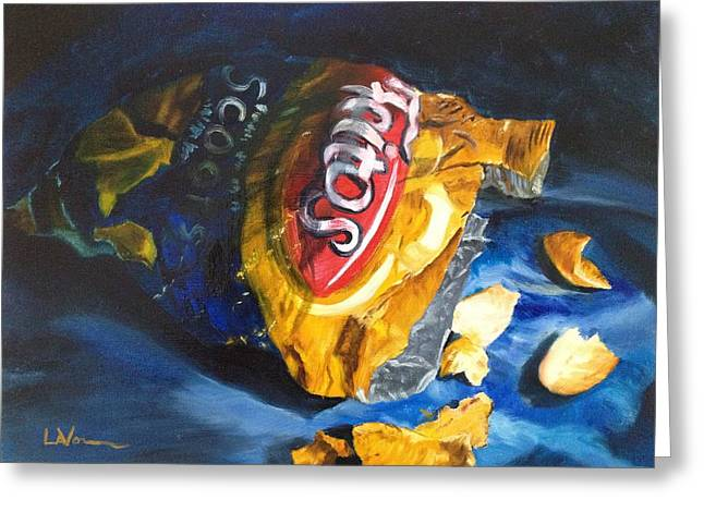Lavonne Hand Greeting Cards - Bag of Chips Greeting Card by LaVonne Hand