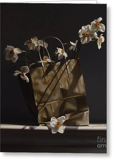 Narcissus Greeting Cards - BAG of NARCISSUS Greeting Card by Larry Preston