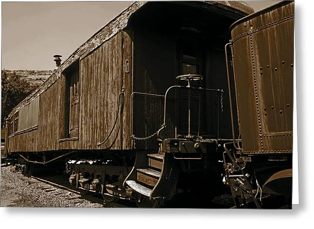 Ravaged By Time Greeting Cards - Baggage Car Greeting Card by Mike Flynn