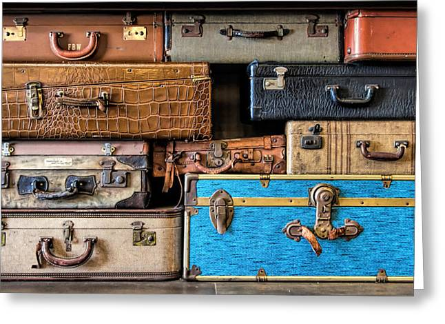 Straps Greeting Cards - Baggage Claim Greeting Card by Eric  Bjerke Sr