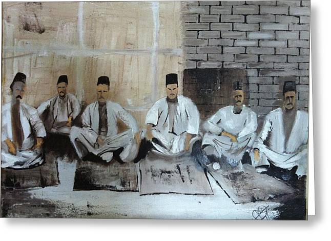 Baghdadi Jews 1920's Greeting Card by Rami Besancon