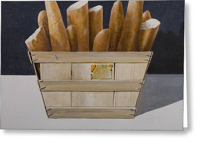 Fares Greeting Cards - Baguettes, 2010 Acrylic On Canvas Greeting Card by Lincoln Seligman