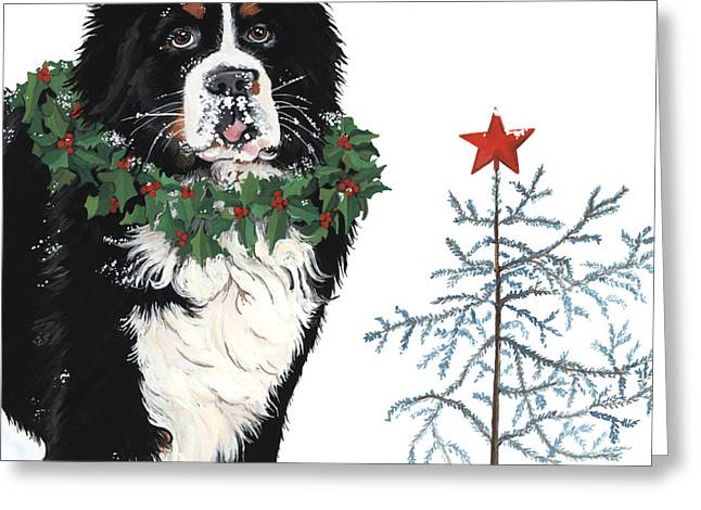 Sticking Out Greeting Cards - Bah humb Merry Christmas Greeting Card by Liane Weyers