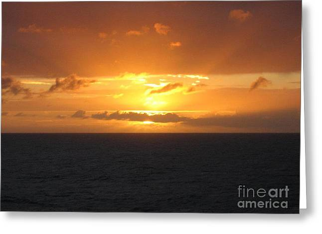 Canon Rebel Greeting Cards - Bahamas Ocean Sunset Greeting Card by John Telfer