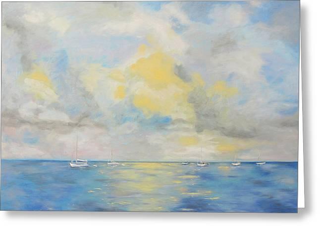 Bahamian Skies Greeting Card by Barbara Anna Knauf