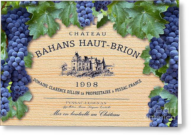 Napa Valley Greeting Cards - Bahans Haut Brion Greeting Card by Jon Neidert