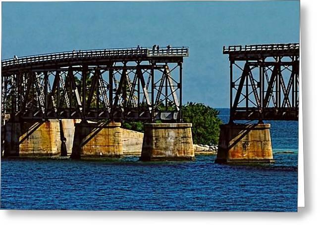 Bahia Honda State Park Greeting Cards - Bahia Honda Bridge Greeting Card by Pamela Blizzard