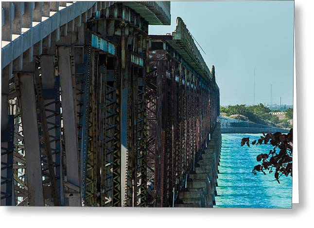 Overseas Railway Greeting Cards - Bahia Honda Bridge Patterns Greeting Card by Ed Gleichman