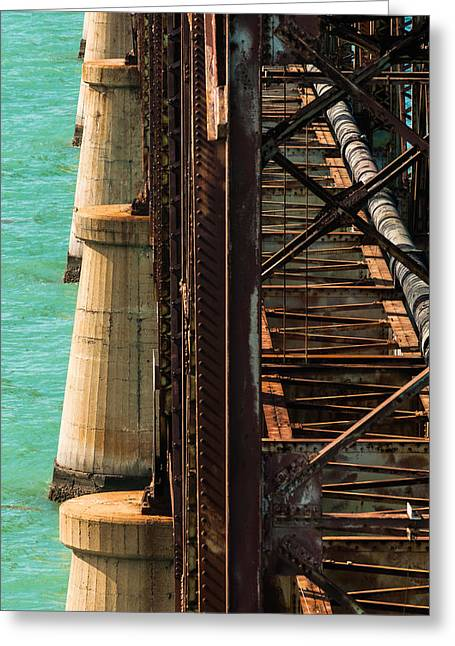 Overseas Railway Greeting Cards - Bahia Honda Steel and Concrete Greeting Card by Ed Gleichman