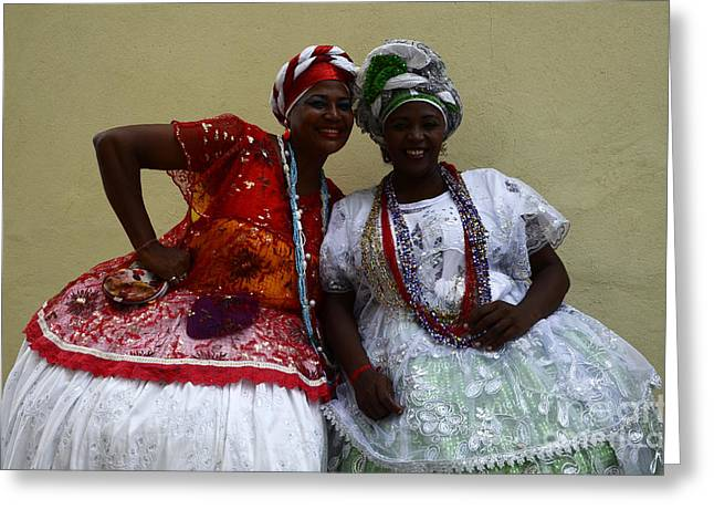 Bahai Greeting Cards - Bahian Ladies Of Salvador Brazil 3 Greeting Card by Bob Christopher