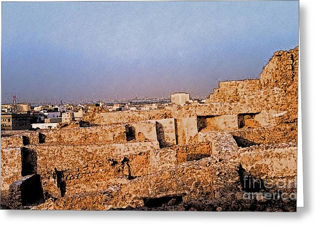 Bahrain Fort  Greeting Card by First Star Art
