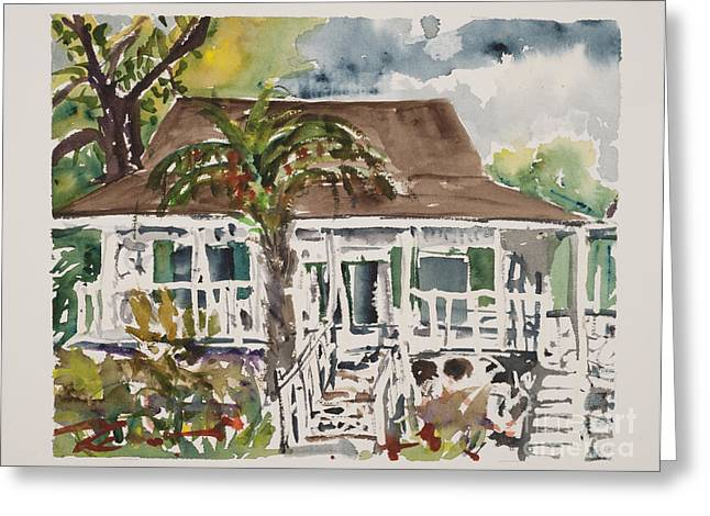 ; Maui Drawings Greeting Cards - Bailey House Museum Maui Greeting Card by Fred Truitt