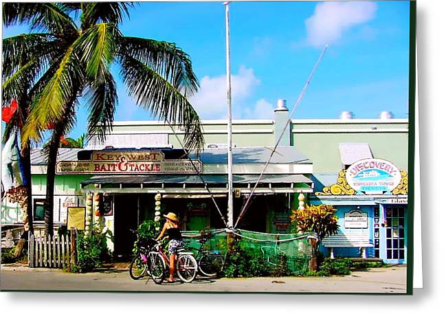 Bait And Tackle Key West Greeting Card by Iconic Images Art Gallery David Pucciarelli