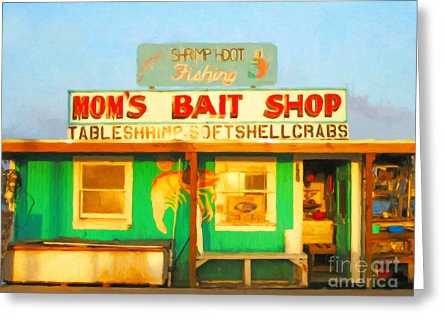 Back Roads Digital Art Greeting Cards - Bait Shop 20130309-1 Greeting Card by Wingsdomain Art and Photography