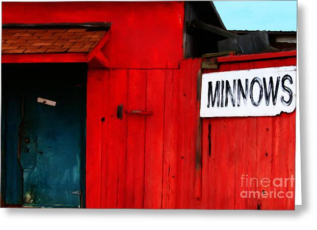 Back Roads Digital Art Greeting Cards - Bait Shop 20130309-2 Greeting Card by Wingsdomain Art and Photography