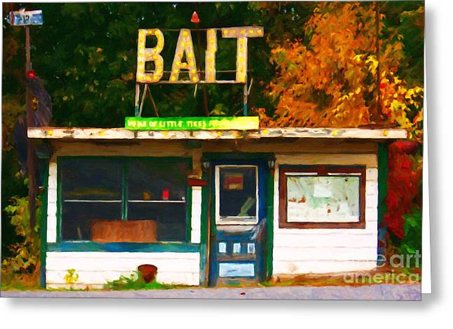 Back Roads Digital Art Greeting Cards - Bait Shop 20130309-3 Greeting Card by Wingsdomain Art and Photography