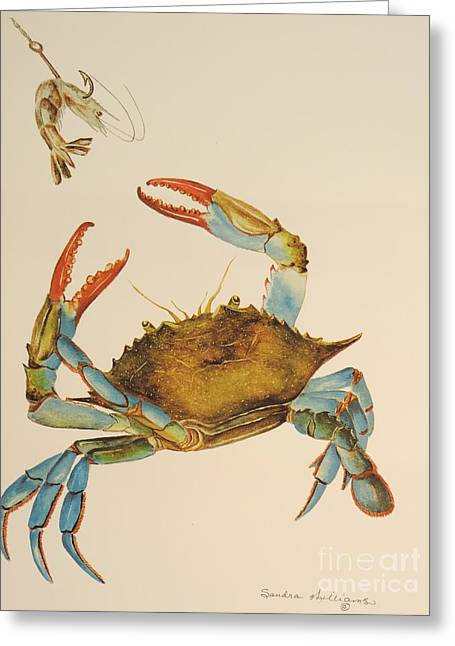 Callinectes Sapidus Greeting Cards - Bait Stealer Greeting Card by Sandra Williams