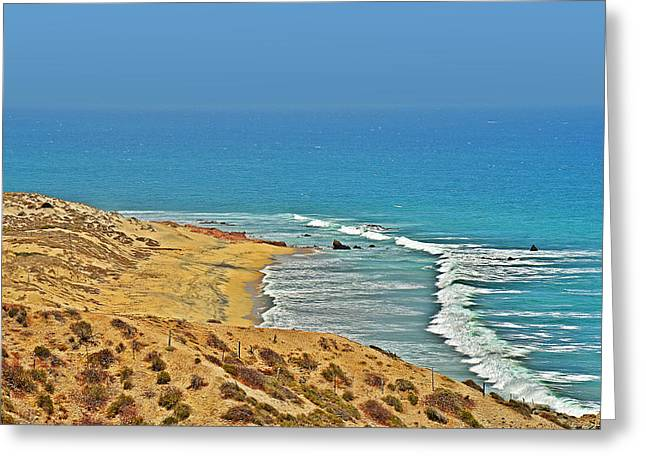 La Paz Greeting Cards - Baja California - Desert meets Ocean Greeting Card by Christine Till