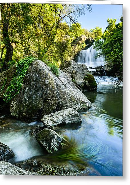 Bajouca Waterfall II Greeting Card by Marco Oliveira
