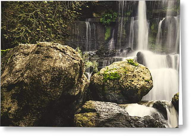 Moist Greeting Cards - Bajouca Waterfall V Greeting Card by Marco Oliveira