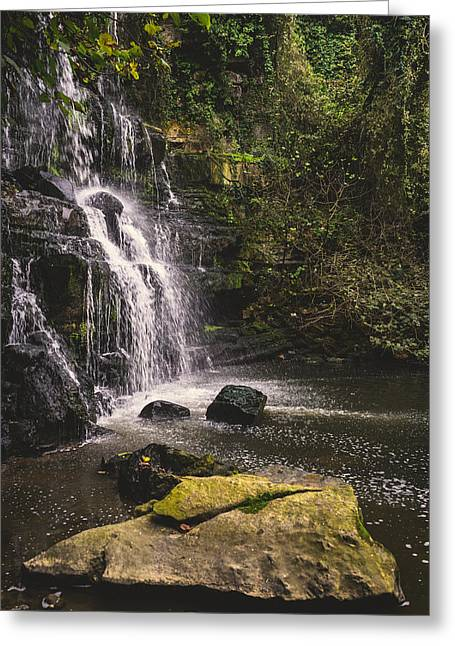 Branch Hill Pond Greeting Cards - Bajouca Waterfall IX Greeting Card by Marco Oliveira