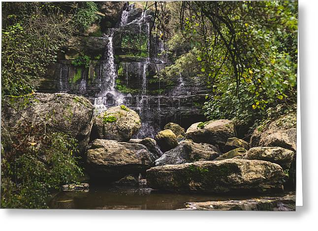 Branch Hill Pond Greeting Cards - Bajouca Waterfall VI Greeting Card by Marco Oliveira