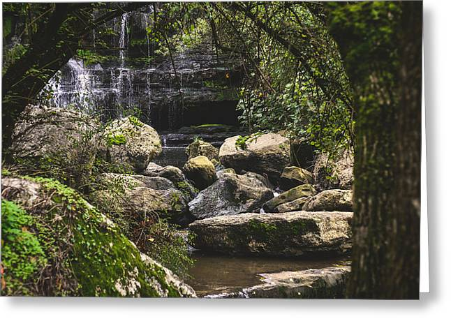 Branch Hill Pond Greeting Cards - Bajouca Waterfall VII Greeting Card by Marco Oliveira