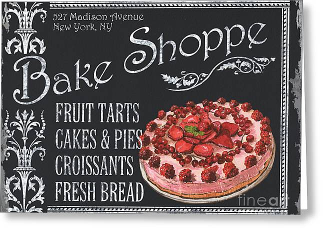 Pie Greeting Cards - Bake Shoppe Greeting Card by Debbie DeWitt